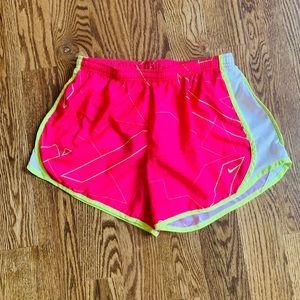 Pants - Nike Women's Pink & Yellow Dri Fit Running Shorts